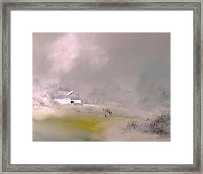 White Farm Framed Print