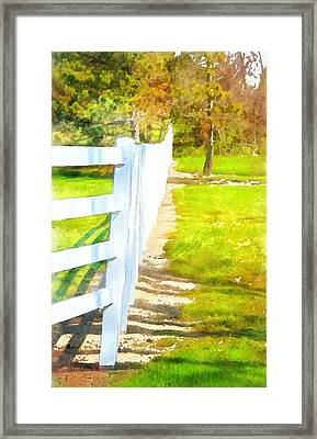 White Fence In Summer Framed Print by Dan Sproul