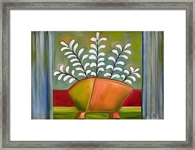 White Ferns Framed Print