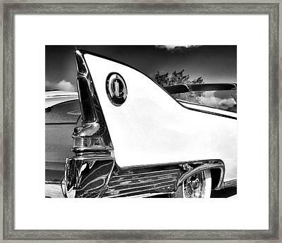 White Fin Bw Palm Springs Framed Print