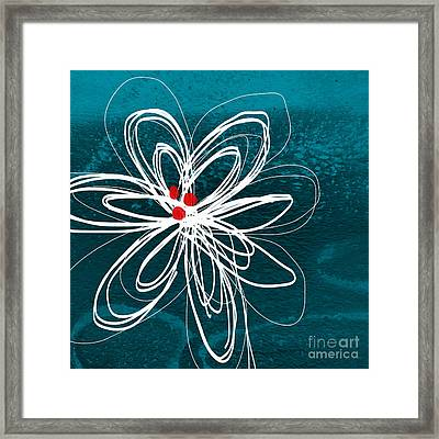 White Flower Framed Print by Linda Woods