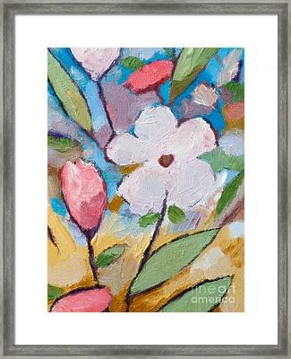 White Flower Framed Print by Lutz Baar