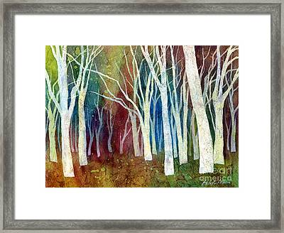 White Forest I Framed Print by Hailey E Herrera