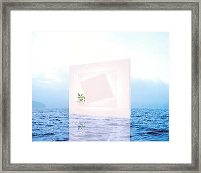 White Frame With Small Vine Floating Framed Print by Panoramic Images