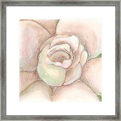 Framed Print featuring the painting White Gardenia 2 by Anna Skaradzinska