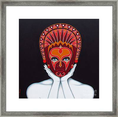 Framed Print featuring the painting White Goddess by Joseph Sonday
