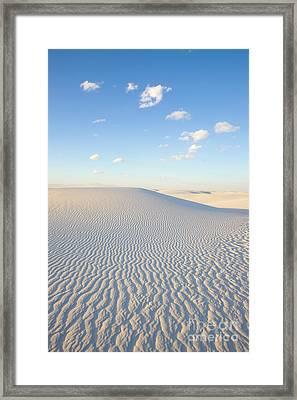 White Gypsum Dune  Framed Print by Yva Momatiuk John Eastcott