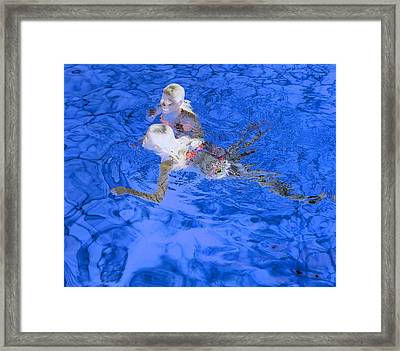 White Hair Blue Water 4 Framed Print by Dietrich ralph  Katz