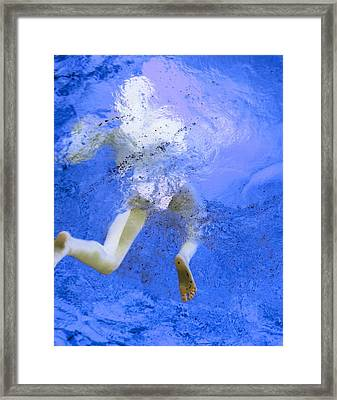White Hair Blue Water Framed Print by Dietrich ralph  Katz