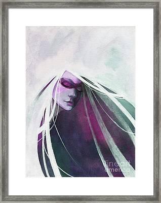 White Haired Girl Framed Print
