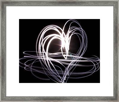 White Heart Framed Print by Aya Murrells