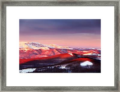 White Heart Framed Print by Evgeni Dinev