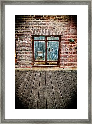 White Hearts Framed Print