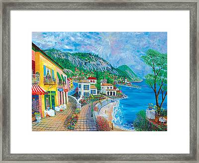 White Horse Cafe' Framed Print by Mike De Lorenzo