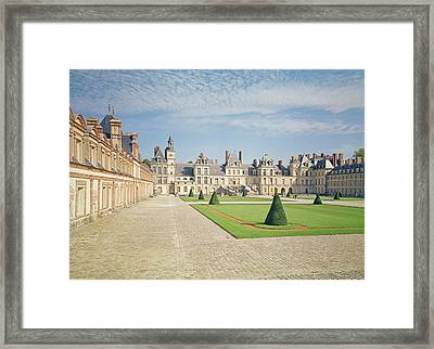 White Horse Courtyard, Palace Of Fontainebleau Photo Framed Print by .