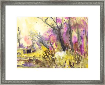 White Horse In The Camargue 02 Framed Print