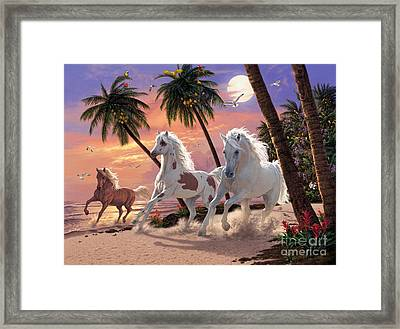 White Horses Framed Print by Steve Read