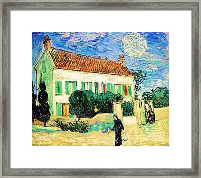 White House At Night Framed Print by Pg Reproductions
