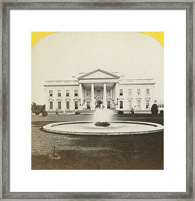 White House, C1882 Framed Print