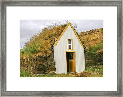White House Covered In Grass Framed Print by Patricia Hofmeester