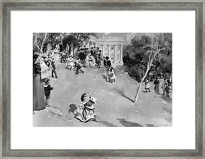 White House Egg Roll Framed Print