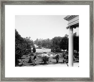 White House Garden, C1895 Framed Print