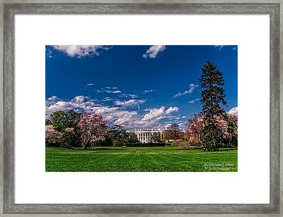 White House Lawn In Spring Framed Print by Christopher Holmes