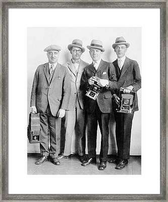 White House News Photographers Framed Print by Library Of Congress
