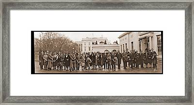 White House Reception, American Opera Framed Print