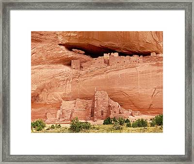 White House Ruins Canyon De Chelly Framed Print