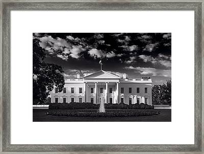 White House Sunrise B W Framed Print by Steve Gadomski