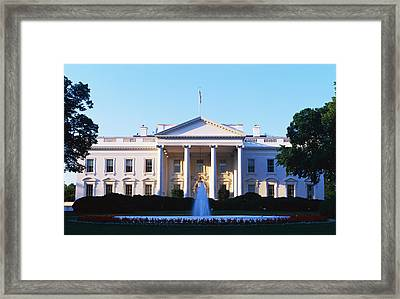 White House Washington Dc Framed Print by Panoramic Images