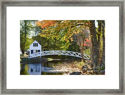 White House With Curved Bridge Framed Print by Bill Bachmann