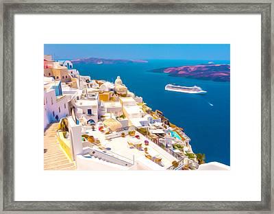 White Houses Of Santorini Framed Print