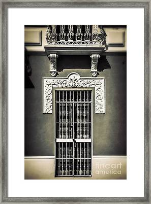 White Iron Framed Print by Perry Webster