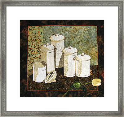 White Jars Framed Print by Lynda K Boardman