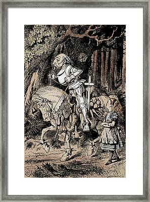 White Knight Alice In Wonderland Framed Print