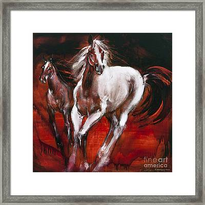 White Knight Framed Print