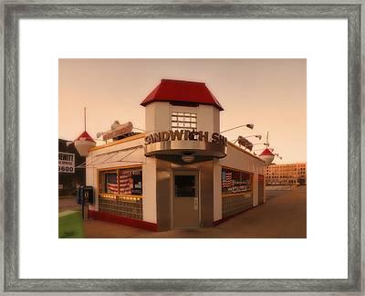 White Knight Sandwich Shop Framed Print