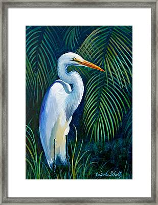 White Knight Framed Print by Susan Duda