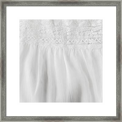 White Lace And Satin Framed Print by Tom Gowanlock