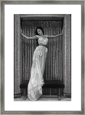 White Lace Framed Print by Tim Dangaran