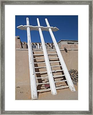 White Ladder Framed Print by Jennifer Nelson