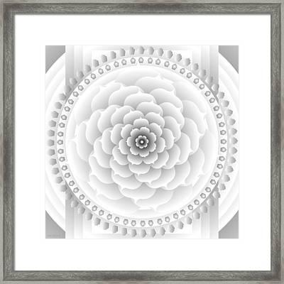 White Light Healing Mandala Framed Print