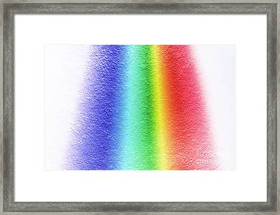 White Light Spectrum, Diffraction Framed Print by GIPhotoStock
