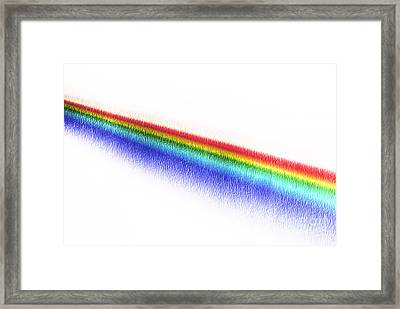 White Light Spectrum Through Prism Framed Print by GIPhotoStock