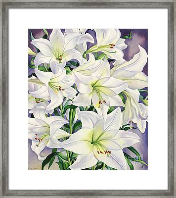 White Lilies Framed Print by Christopher Ryland