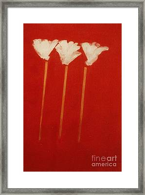 White Lillies Framed Print