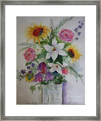 White Lily Surprise Framed Print by Terri Maddin-Miller