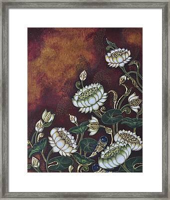 White Lotus Framed Print